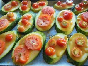 Miso glazed Zucchini