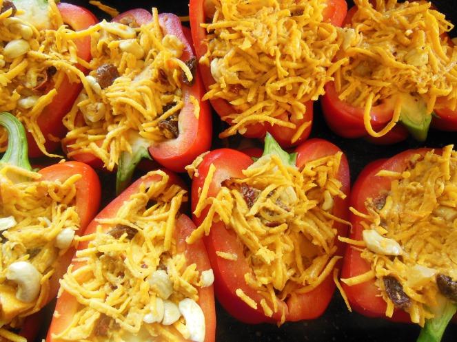 red pepper, pumpkin stuffing