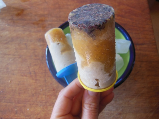chia passionfruit iceblock