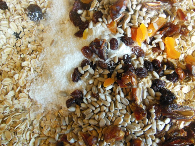 bircher, muesli, granola