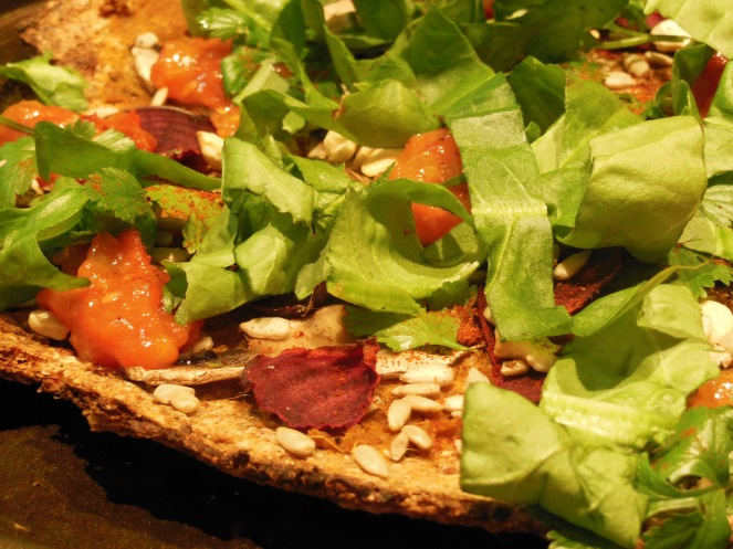 slice of cauliflower piza