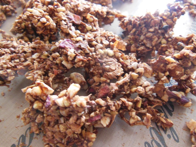 raw, vegan, breakfast, granola